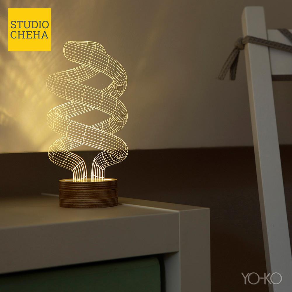 BULBING SPIRAL LAMP スパイラルランプ バルビングランプ STUDIO CHEHA LEDスタンドライト インテリア 照明 テーブルランプ ナイトライト インテリアランプ 卓上ランプ あす楽