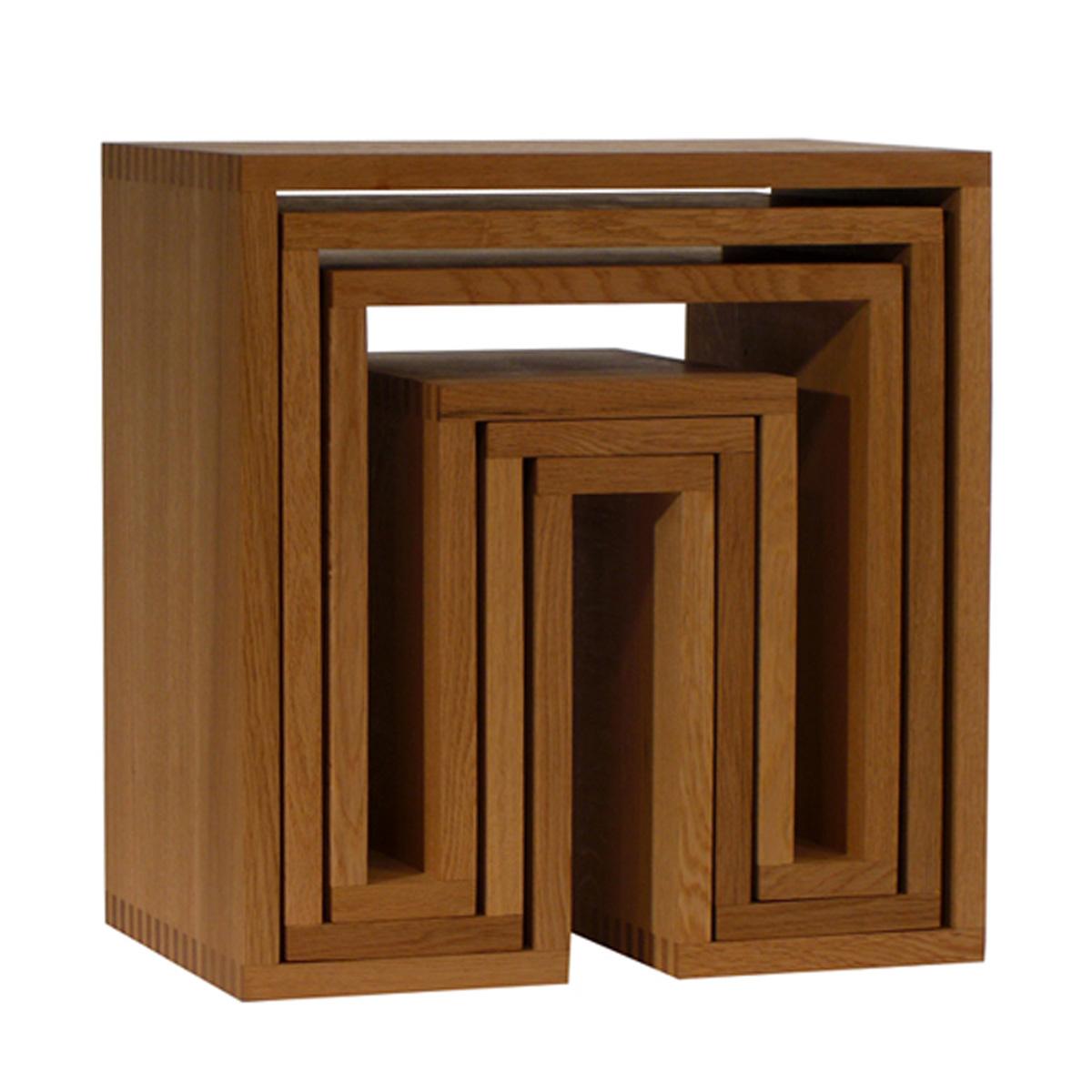 abode 3個セット ネスティングテーブル ナチュラル Nesting Tables 3pc.SET ウー バホリヨディン Ou Baholyodhin バホリヨデン SHOJIシリーズ 収納棚 テーブル 什器 スツール マガジンラック コンソール