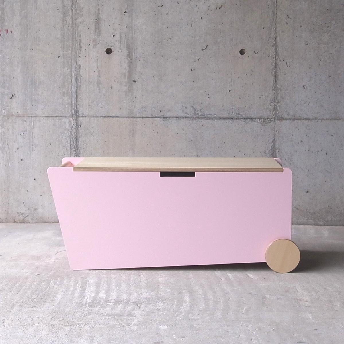 abode アボード 家具 ベンチボックス ピンク BENCH BOX/津留 敬文 収納・ボックス・キャスターボックス・サイドテーブルデザイナーズ家具