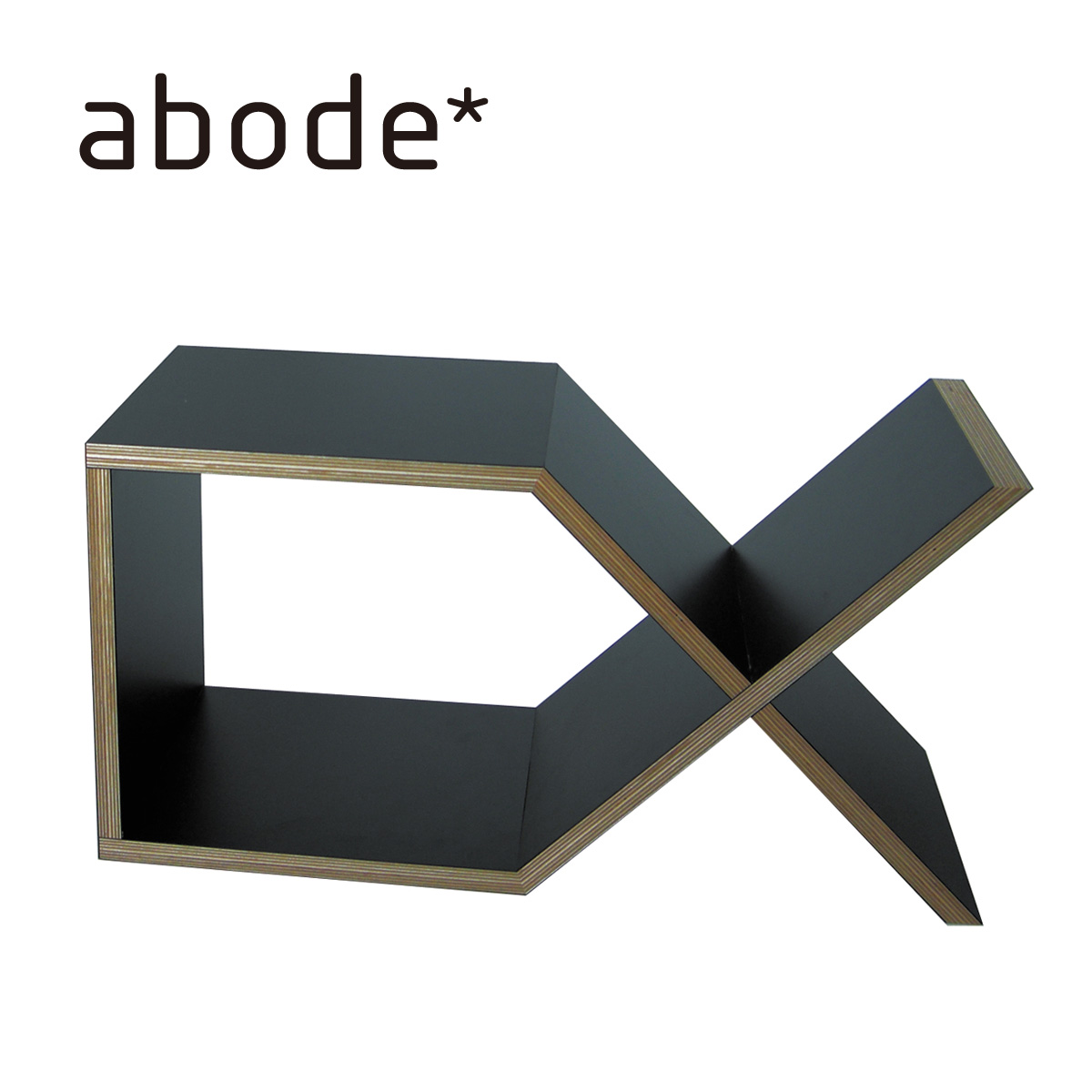 abode アボード 家具 ディーエックス DX ブラック 津留 敬文 サイドテーブル・ブックシェルフ・収納・組立収納デザイナーズ家具