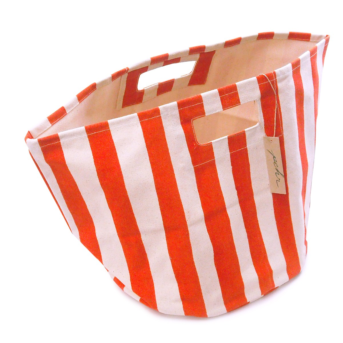 Pehr Strage Bin / Stripe Orange / Stripes Orange Living Room Storage, Small  Glove Compartment Fabric Storage Box, Color Box, Canvas, Folding Type