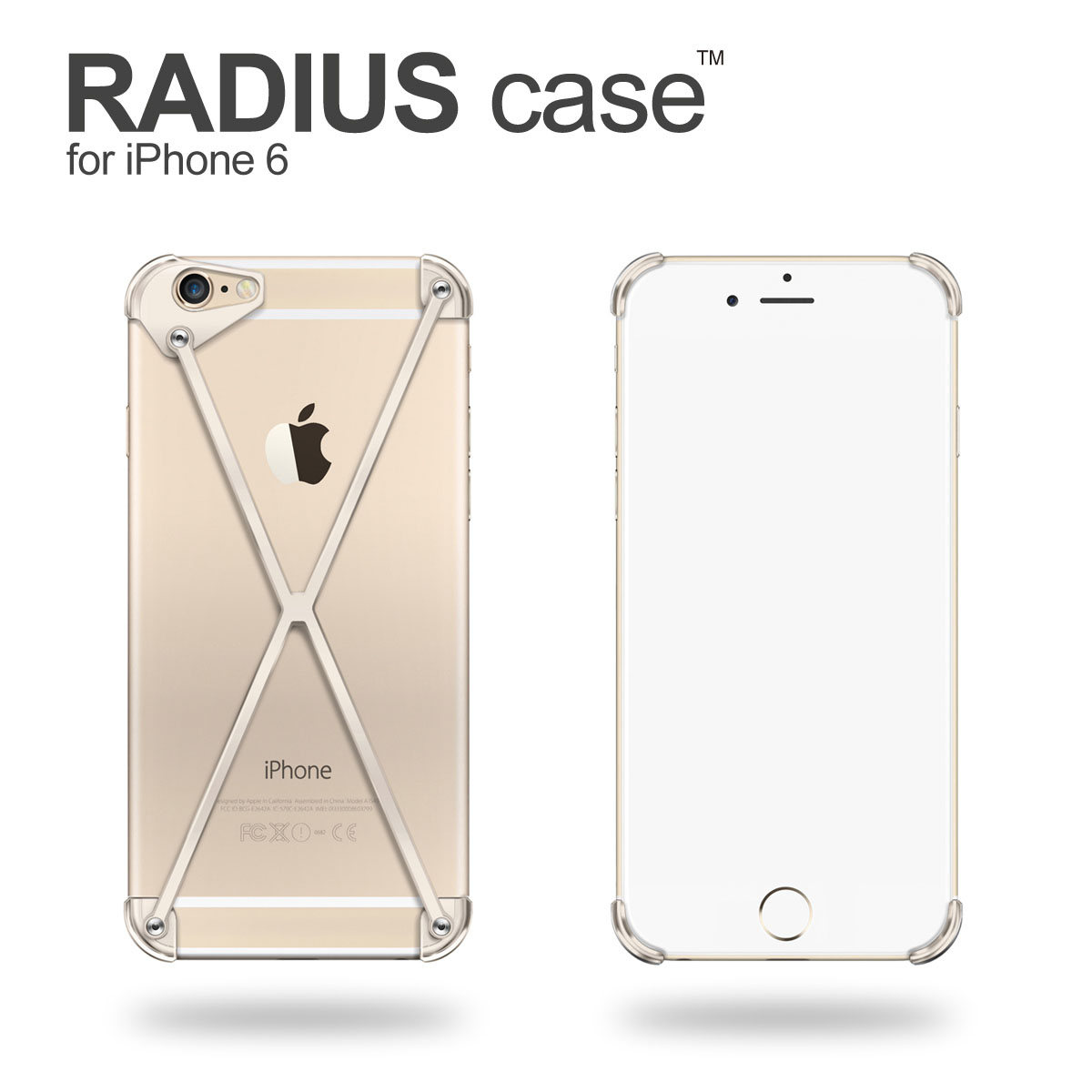 RADIUS case 6 All Gold X for iPhone6 by mod-3 / radial-all Gold limited edition Premium color iPhone6 cover iPhone case aluminum frame gift