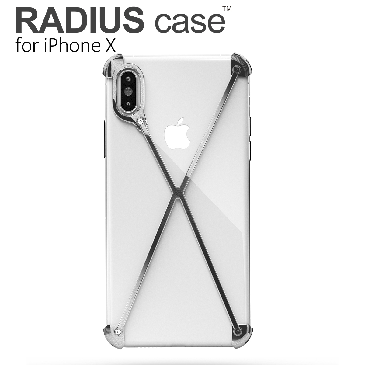 RADIUS case Brushed for iPhone X by mod-3/ラディアス ブラッシュ iPhone X カバー アイフォンテンケース アルミフレーム ギフト あす楽