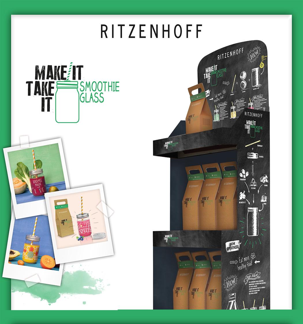 RITZENHOFF リッツェンホフ MAKE IT TAKE IT メイクイット・スムージーグラスセット Julien Chung(ジュリアン・チュン)ジャーグラス・蓋つき・メイソンジャープレゼント・贈り物・アウトドア・ギフト