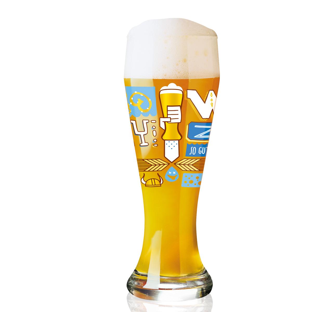 RITZENHOFF/リッツェンホフ WEIZEN BEER  COLLECTIONヴァイツェンビア・ビアタンブラー(Pietro Chiera -81020202)ピエトロ・キエラ デザイン ビアグラス ビールグラス ヴァイツェン 引出物 ブライダル・