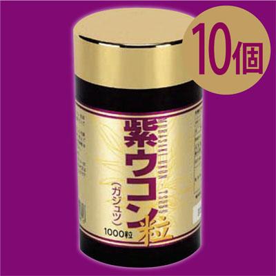 【送料無料】沖縄産紫ウコン100%!美容と健康に! 紫ウコン粒(ガジュツ)約1000粒×10個