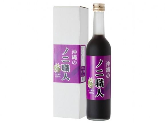 送料無料|沖縄のノニ職人 果汁100% 500ml(瓶)12本