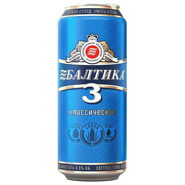 バルティカ No.3 [缶] 450ml x 48本[2ケース販売] 送料無料※(本州のみ) [同梱不可][池光/ビール/ロシア]