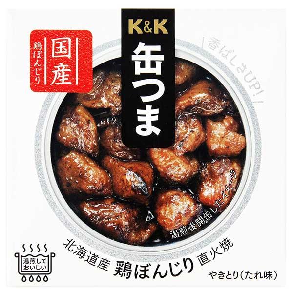 【10%】K&K 缶つま 北海道産 鶏ぼんじり 直火焼 [缶] 40g x 24個[ケース販売] [K&K国分 食品 缶詰 日本 0417408]