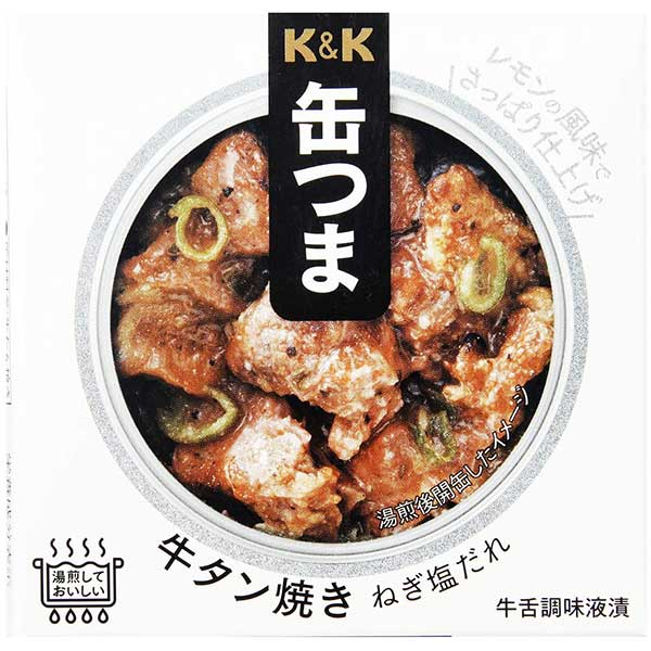 【10%】K&K 缶つま 牛タン焼き ねぎ塩だれ [缶] 60g x 24個[ケース販売] [K&K国分 食品 缶詰 日本 0417413]