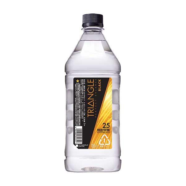 サッポロ トライアングル ブラック 25度 [PET] 1.8L 1800ml x 6本[ケース販売][サッポロ/焼酎/日本/N287]