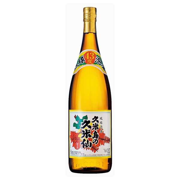 久米島の久米仙 古酒 43度 1.8L 1800ml x 6本 [ケース販売][久米島の久米仙 / 泡盛]【お中元】