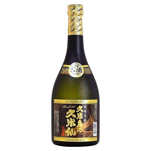 久米島の久米仙 古酒ブラック 30度 720ml x 12本 [ケース販売][久米島の久米仙 / 泡盛]【お中元】【gift】