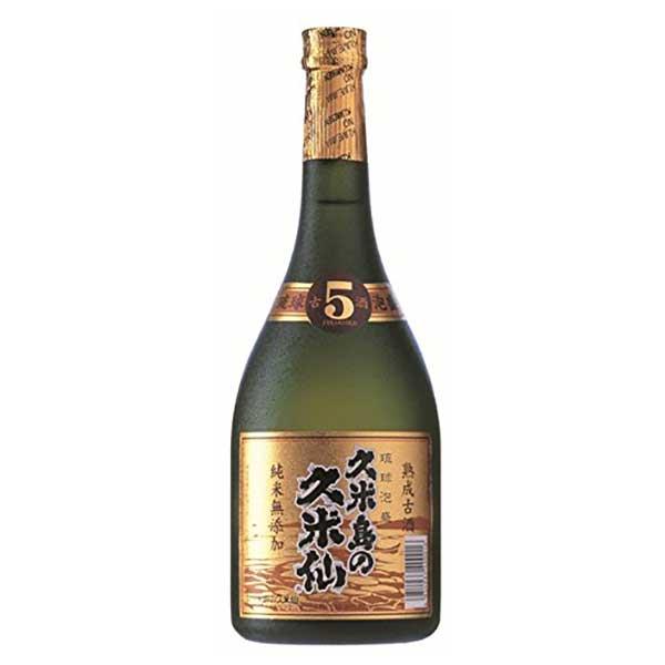 久米島の久米仙ブラック5年 40度 720ml x 12本 [ケース販売][久米島の久米仙 / 泡盛]
