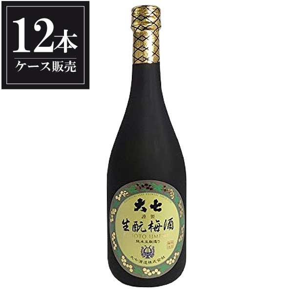 大七 生もと梅酒 720ml x 12本 [ケース販売] [大七酒造/福島県 ]【gift】【キャッシュレス 還元】