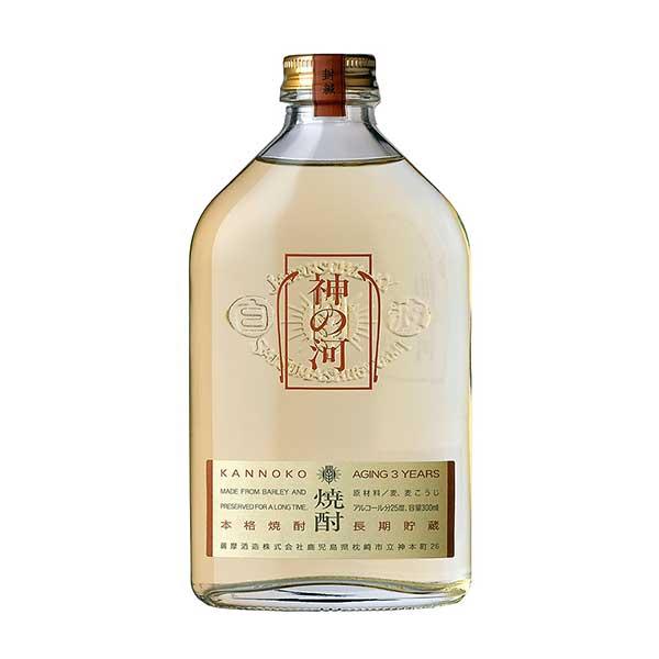 神の河 麦 25度 [瓶] 300ml x 24本 [ケース販売] [薩摩酒造/麦焼酎/鹿児島県]【お中元】