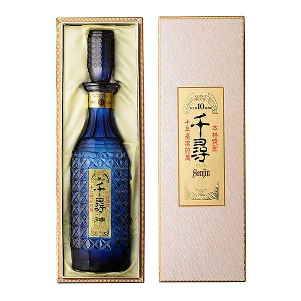 千尋 藍ボトル (芋製) 米 37度 [瓶] 750ml x 6本 [ケース販売] [薩摩酒造/米焼酎/鹿児島県]【キャッシュレス 還元】