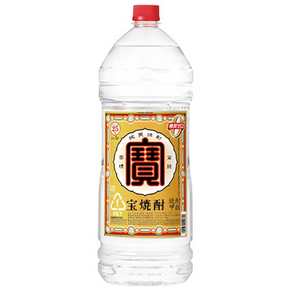 焼酎 distilled spirit sake 御中元 店舗 御歳暮 内祝い 宝焼酎 25度 ペット 宝酒造 あす楽対応 4本 日本 x 4L ケース販売 千葉県 4000ml 10%OFF