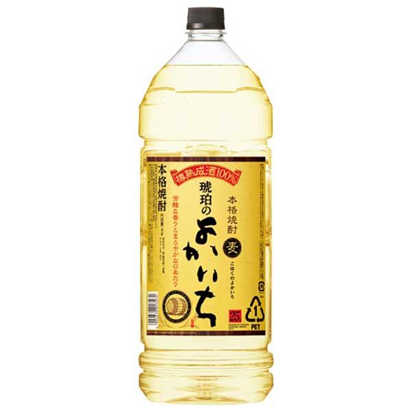 本格焼酎 琥珀のよかいち 麦 25度 [ペット] 4L 4000ml x 4本 [ケース販売][宝酒造/日本/千葉県]