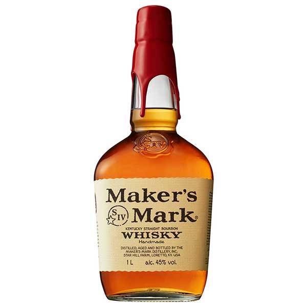 【限定割引クーポン配布中】メーカーズマーク リッターボトル 45度 [瓶] 1L 1000ml x 12本[ケース販売] 送料無料※(本州のみ)[ウイスキー/45度/アメリカ/サントリー]【ギフト不可】