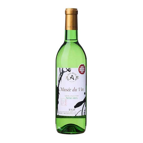 ミュゼドゥヴァン プレミアムナイアガラ 720ml x 12本[ケース販売][岡永/アルプスワイン/長野県/白ワイン]【キャッシュレス 還元】