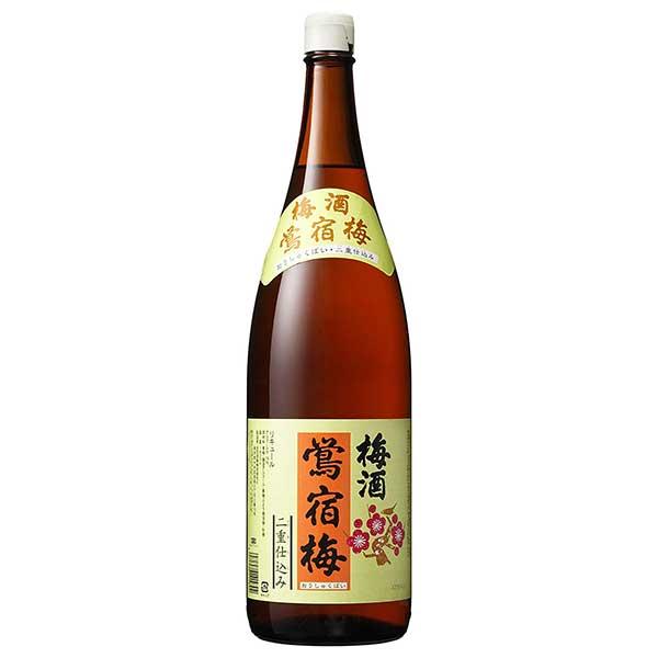 梅酒 plum wine liquor 母の日 父の日 御中元 御歳暮 内祝い 日本限定 決算セール開催中 ポイント5倍 合同 鴬宿梅 二重仕込み 1.8L 瓶 リキュール ケース販売 合同酒精 14度 1800ml オノエン 授与 6本 本州のみ x 送料無料 136614 日本
