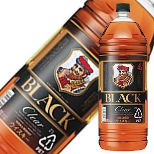 国産 ウイスキー 購入 whisky 母の日 父の日 御中元 御歳暮 保証 内祝い ブラックニッカ クリアブレンド 4L 4000ml ケース販売 ポンプディスペンサー付き x 送料無料 4本 ニッカウイスキー ギフト 本州のみ あす楽対応