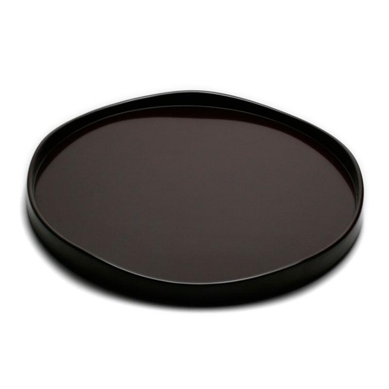 大人気! ご飯のおかわりいかがですか? 漆器 輪島塗:潤山路盆 6.5寸 オンライン限定商品 19.7cm》 奥田志郎《お盆