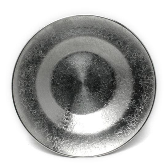涼しげ 錫器:錫段付茶托 春の新作シューズ満載 ゆり工房《茶托》 大 時間指定不可