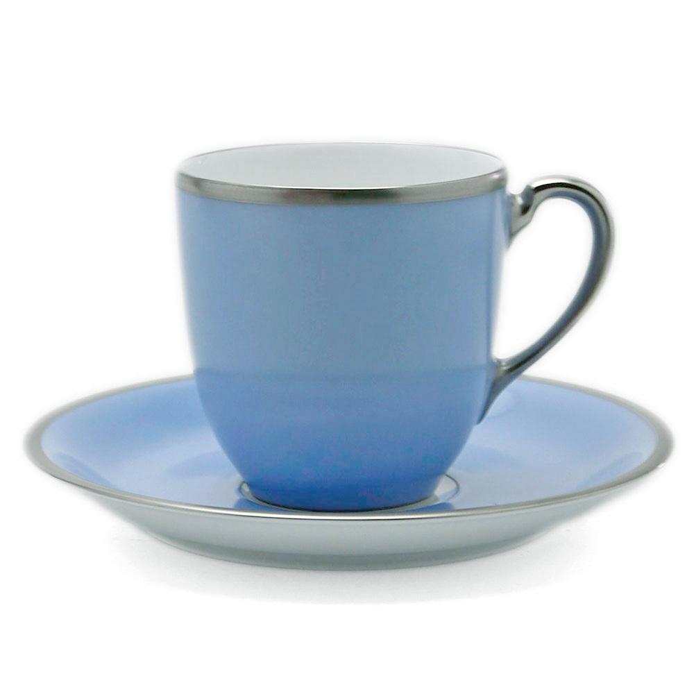 磁器:トワエモア ブルーコーヒー碗皿・大倉陶園《コーヒーカップ・皿セット・140ml》