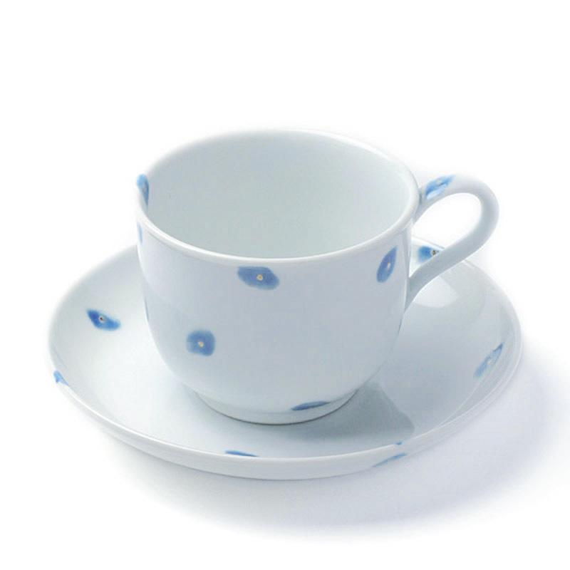 人気ブレゼント たっぷりとコーヒーが飲みたい朝に 磁器:金点モーニング碗皿 40%OFFの激安セール 皿セット》 古川章蔵《コーヒーカップ
