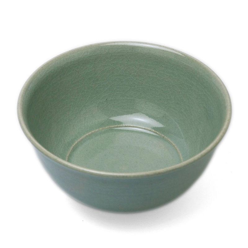 青磁:青磁6寸玉縁鉢・長森慶《中鉢・15.6cm》