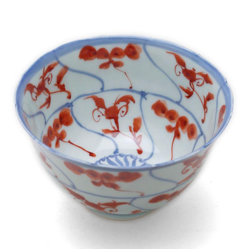 市場 使いでの良いお鉢です 赤絵安南手輪花深鉢 土山敬司《小鉢 ランキング総合1位 12.8cm》