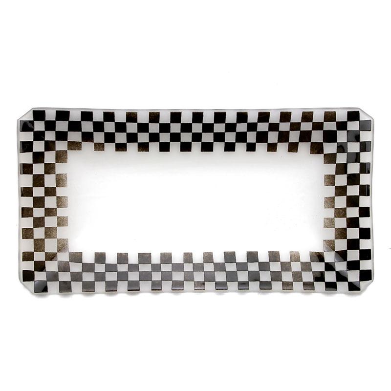 ガラス:市松文長皿・d.Tam《中皿・24.5cm》