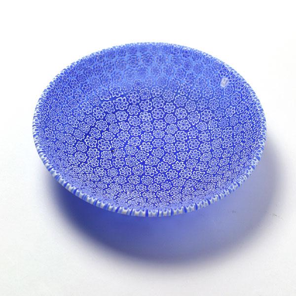 ガラス:ボウルΦ13・ブルー・エルコーレ・モレッティ《小皿・小鉢・13.0cm》