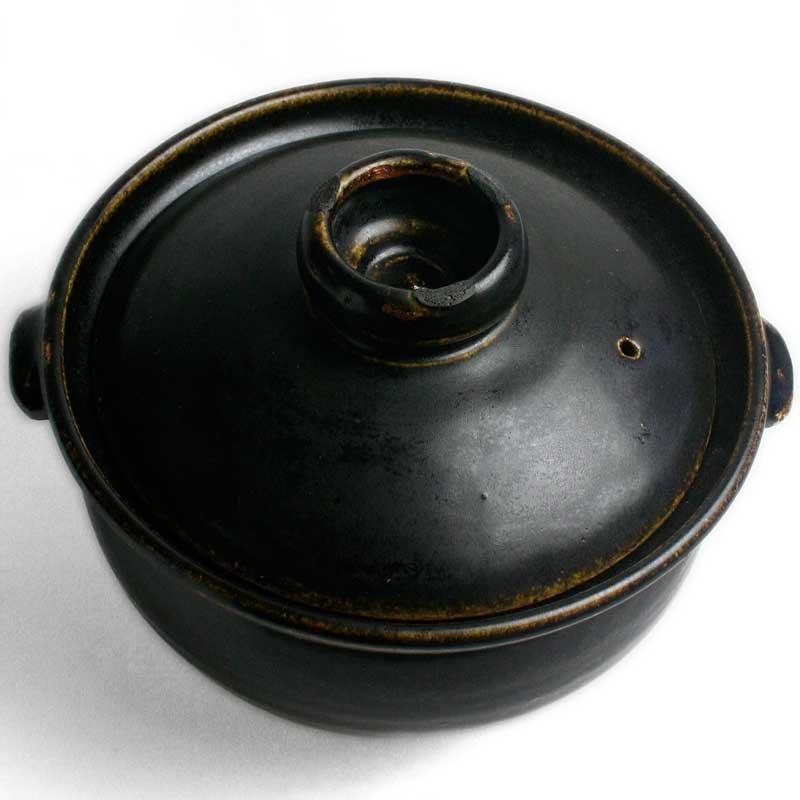 ご飯がおいしく3合炊けます 玄釉土鍋 3合 ストア 1600ml 吉井史郎《土鍋 割り引き 21.0cm》