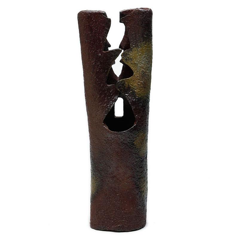 備前焼:手造掛花入・和仁栄幸《花瓶・花器・花入れ》