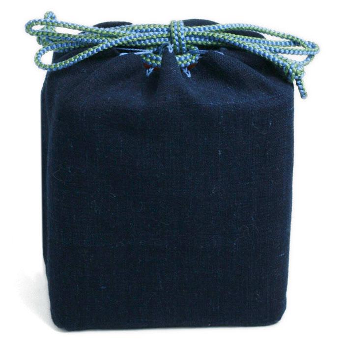 藍木綿弁当袋・割子弁当用・あさの組紐店