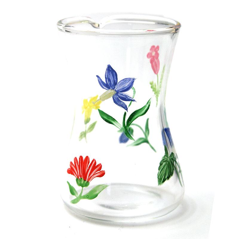 ガラス:ミルクピッチャー・花・d.Tam《ミルクピッチャー・ドレッシング入れ・60ml》
