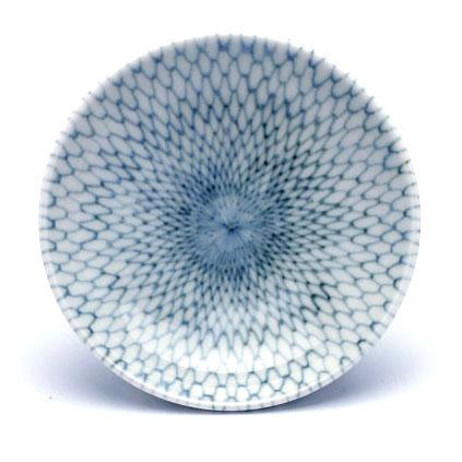 染付:染付みじん網目小皿・2.7寸・阪東晃司《豆皿・醤油皿・8.1cm》
