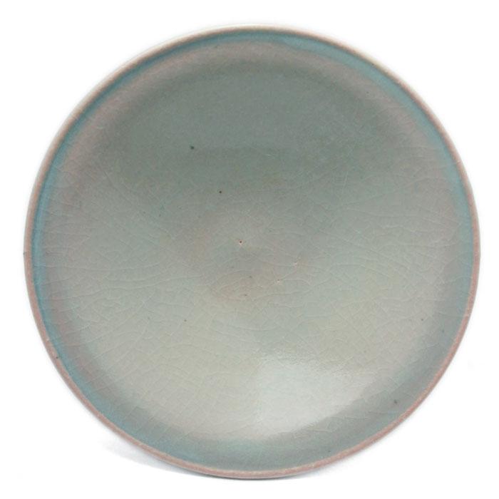 伊賀焼:雅造椿釉皿・5寸・土楽:福森雅武《小皿・16.0cm》