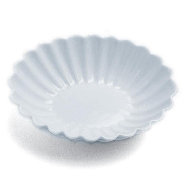 やさしい白 白磁:白磁輪花楕円小皿 大 10.6cm》 国内正規品 水野克俊《豆皿 美品