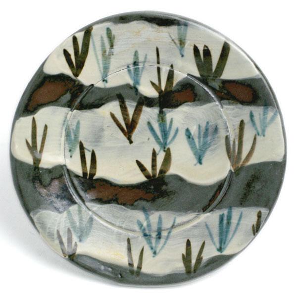 京焼:乾山写4.5寸絵替り土器皿[5客一組]・伏原博之《小皿・13.5cm》