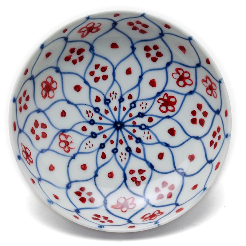 さすがのものたち 低価格 推奨 花網4寸皿 深 12.0cm》 土山敬司《小皿