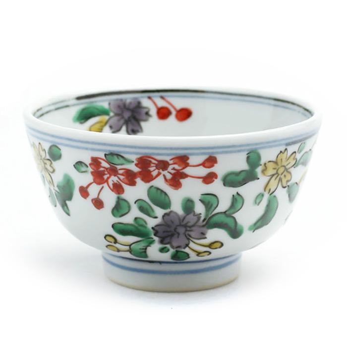 九谷焼:色絵桜絵茶碗・須田菁華《汲出・9.0cm》