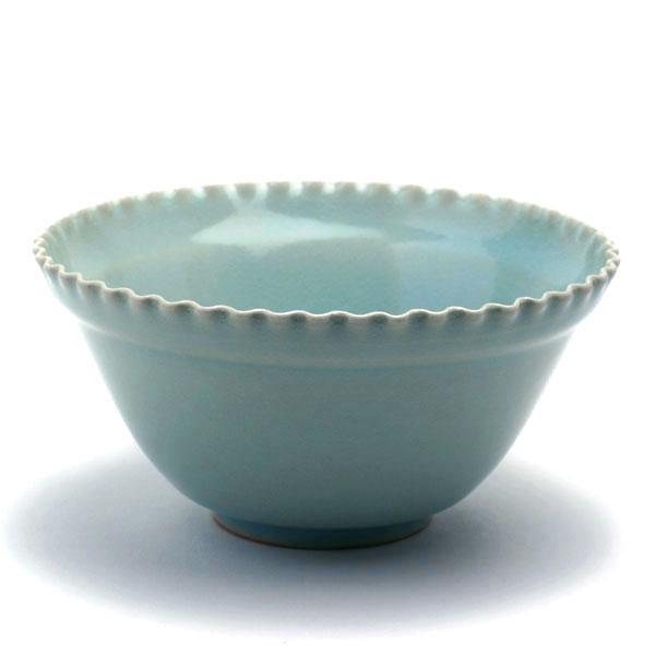 青磁:青瓷縁なぶり向付・海老ヶ瀬保《小鉢・向付・13.5cm》