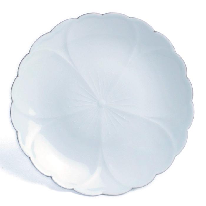 白磁:白磁口紅桜8寸皿・水野克俊《大皿・23.7cm》
