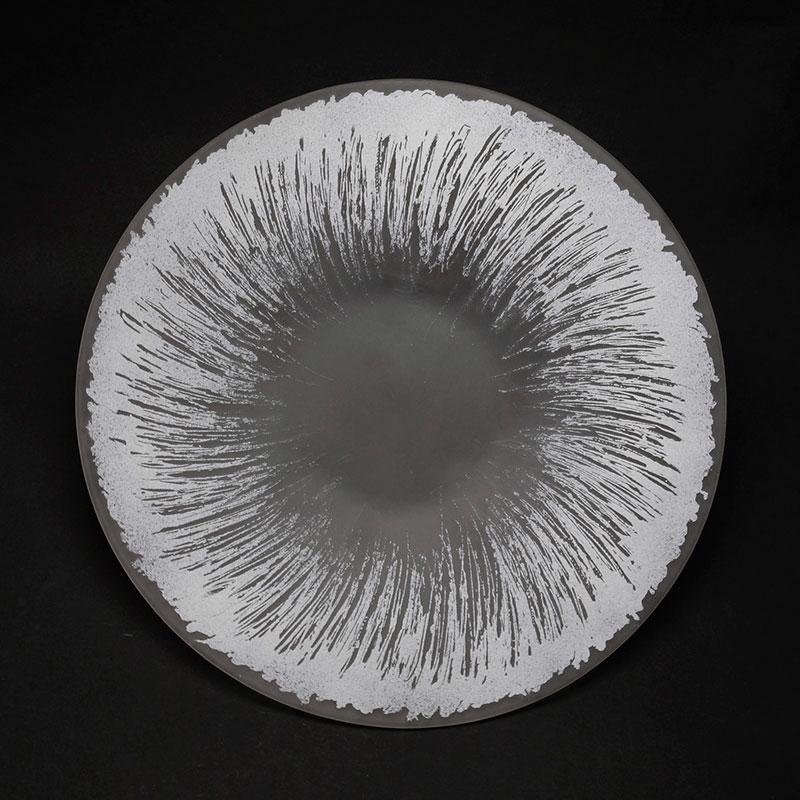 かきとり紋26cm平皿・ホワイト・d.Tam