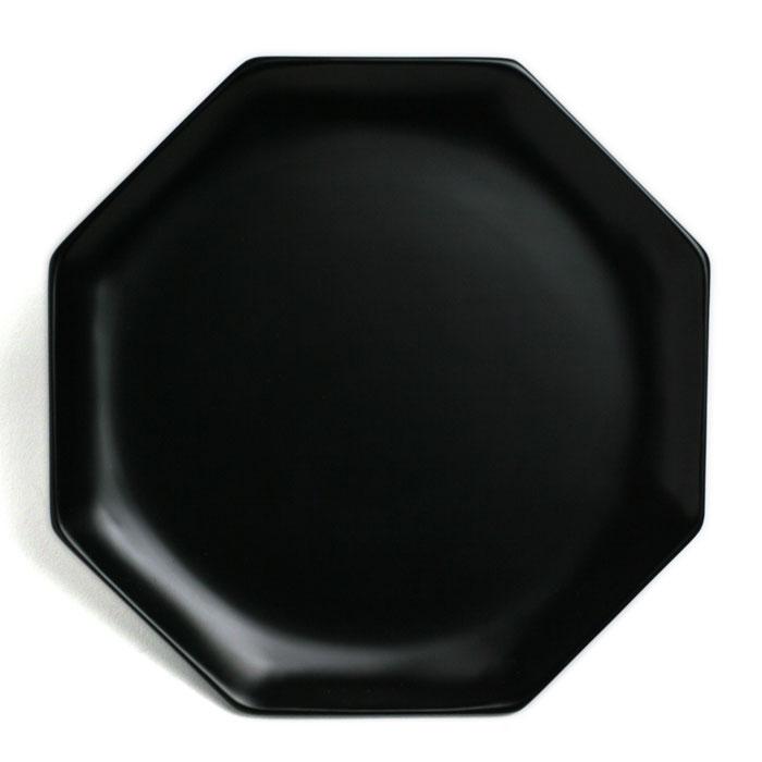 漆器:黒八角皿・守田漆器《漆器・銘々皿・菓子皿・ケーキ皿・取り皿・17.0cm》
