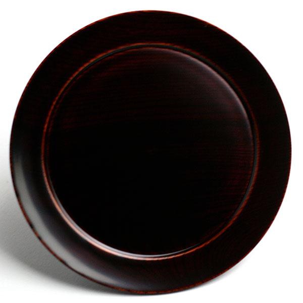ケーキも似合います 漆器 売店 輪島塗:透漆平皿 17.5cm》 定番の人気シリーズPOINT(ポイント)入荷 奥田志郎《中皿